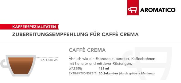 ubereitungsempfehlung Caffe Crema