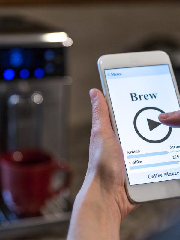 Kaffee-App Smartphone