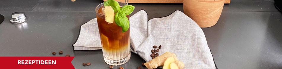 Cold Brew mit Ingwer und Basilikum